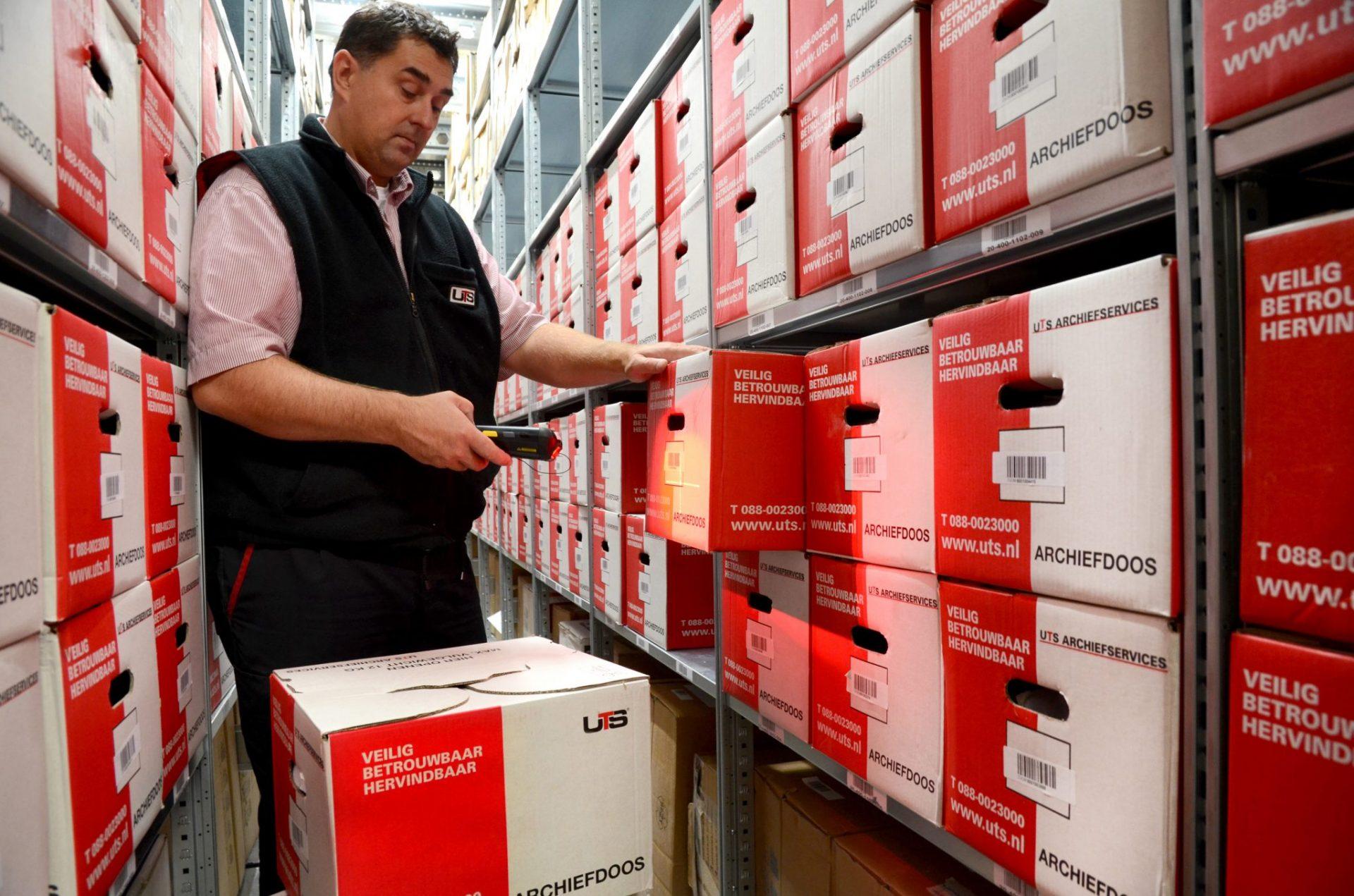 UTS Nederland - archief dozen